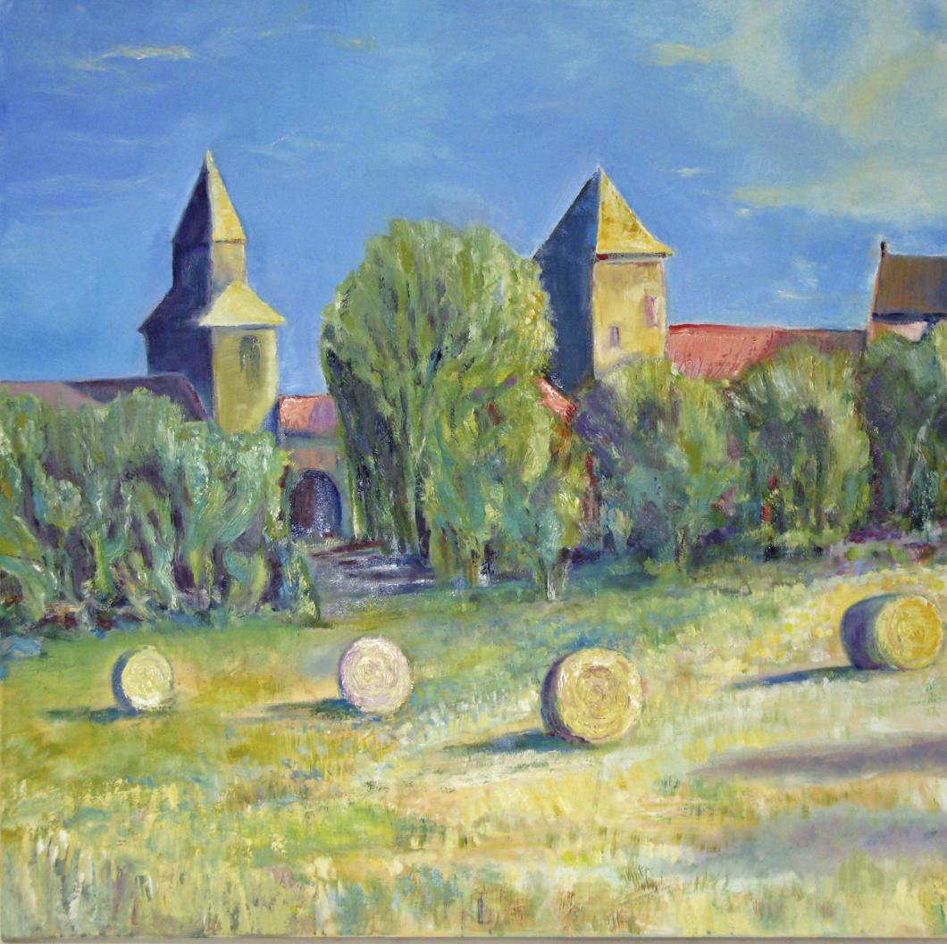 Field near Montsalès: oil on canvas